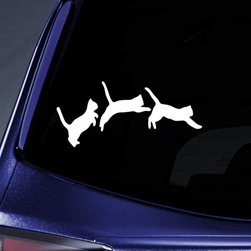 (Bargain Max Decals - Jumping Cats Kittens Love Sticker Decal Notebook Car Laptop 6