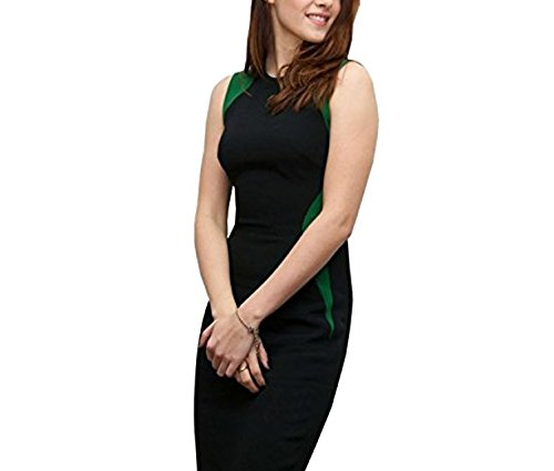 Unomatch Kristen Stewart Style Empire Waist Dress Black (X-Smal, - Stewart Kristen Style
