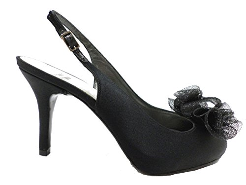 scarpe donna STUART WEITZMAN 36,5 EU sandali nero raso WH942