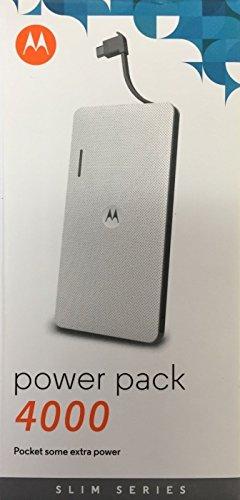 Motorola P4000 Universal Portable Power Pack - Bulk Packaged (WHITE)