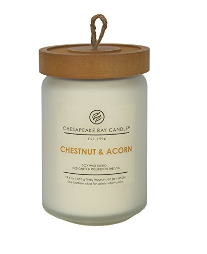Chesapeake Bay Candle Heritage Scented Candle, Chestnut & Acorn, Large