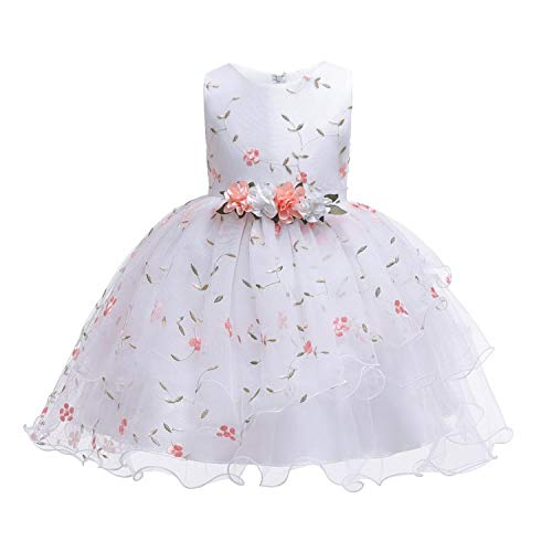 2019 New Christmas Princess Girls Party Dresses for Party Baby Fashion Pink Tutu Dress Girls Wedding Dress Kids Dress,Pink,8 ()