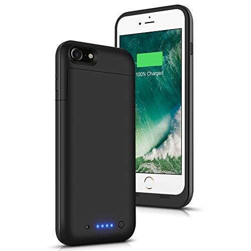 iPhone 6 Plus 6S Plus Battery Case 6800mAh AexPower Slim Portable Charger Rechargeable Extended Battery Pack Protective Backup Charging Case for iPhone 6S Plus 6 Plus 5.5 Battery Charger Case -Black