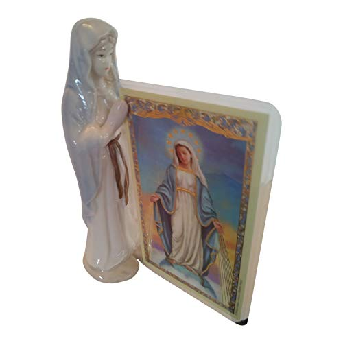 (Religious Holy Card Holder Praying Madonna 5 Inch Porcelain)