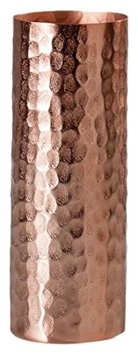 Torre & Tagus 902192C Bark Aluminum Texture Cylinder Vase Copper - Tall