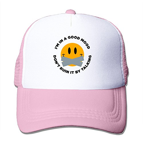 Im In A Good Mood Boy & Girl Grid Baseball Caps Adjustable Sunhats Fashion (Halloween Party Im Movie Park)