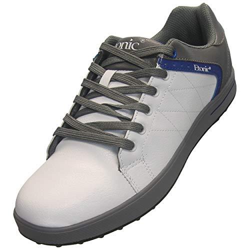 Etonic Men's SP Lite Spikeless Golf Shoe, 13 Medium White/Gray