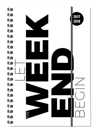 Collegetimer Typo 2017/2018 - Schülerkalender A5 - Weekly - Ringbindung - 224 Seiten