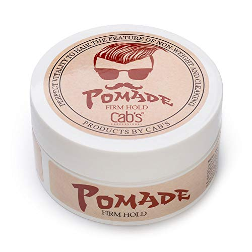Cab's Firm Hold Hair Pomade for Men with Strong Firm Hold for High Shine, Retro Hairstyles, Pompadour & Slick Back Looks - [2.82 oz / 80 g] (Best Hairstyles For Thick Wavy Hair Men)