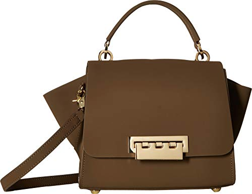 - ZAC Zac Posen Women's Eartha Top-Handle Crossbody Gothic Olive Suede One Size