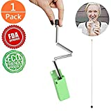 Collapsible Reusable Straws Stainless Steel Folding Drinking Straws Portable Travel Final Straw Outdoor Household (Green)