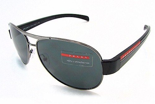 88a08d899ce77 PRADA SPS 51L Sunglasses SPS51L Gunmetal 5AV-1A1 Shades  Amazon.co.uk   Clothing