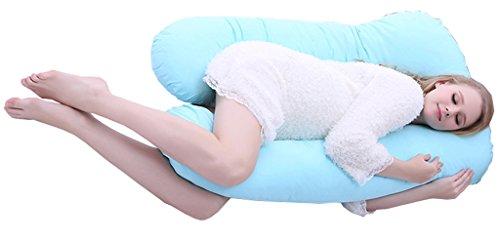 ChenHang Blue Pregnancy Pillow U-Shape Maternity Pillow Soft