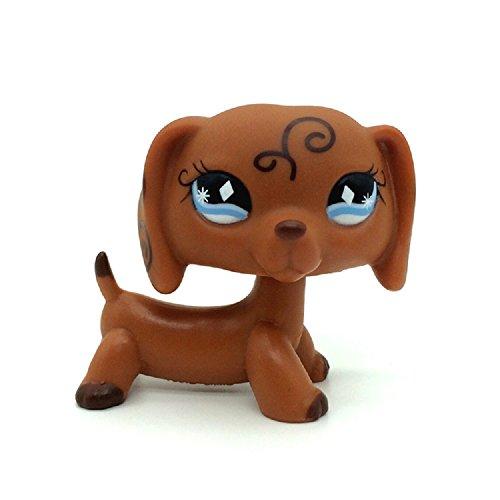 st Pet Shop Brown Dachshund Dog Puppy Diamond Eyes Animal LPS ()