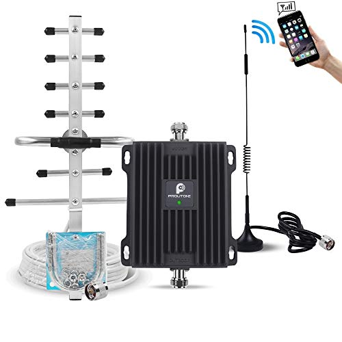 (Cell Phone Signal Booster for Verizon AT&T T-Mobile GSM 3G Home Use - Boost Mobile Phone Voice and Text Signal by Dual Band 850/1900MHz Band 2/5 Cellular Repeater Amplifier Kit and Omni/Yagi Antennas)