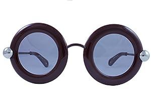 Christopher Kane CK 0005S 004 Red Plastic Round Sunglasses Grey Lens