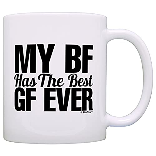 Best gift for boyfriend amazon anniversary gift for girlfriend bf has the best gf ever boyfriend gift coffee mug tea cup white negle Gallery