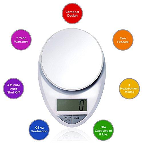 Eatsmart Precision Pro Digital Kitchen Scale White