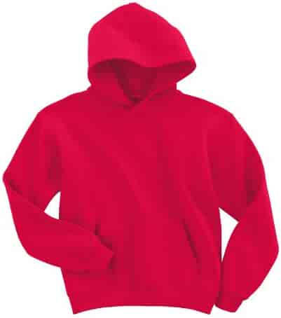 Gildan boys Heavy Blend Hooded Sweatshirt(G185B)-RED-L