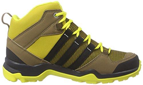 adidas AX2 MID CP K - Botas de montaña para niño Marrón / Negro / Amarillo