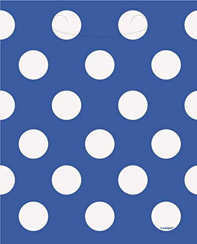 [Royal Blue Polka Dot Goodie Bags, 8ct] (White Theme Party Costumes Ideas)