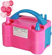 Mini Electric Balloon Pump Kit, 600W Quick Inflator Blower Portable, Dual Nozzle Air Pump Balloon for Party, B