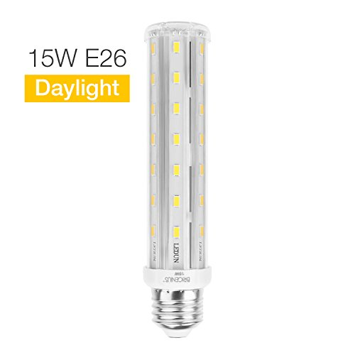 15W Daylight Non-Dimmable Led Corn Light Bulb - E26 Base 6500k 1500LM. T10 Tubular Led Replacement Bulb (100-Watt Equivalent) For House Indoor Outdoor Kitchen Bathroom Garage Piano Light Bankers Lamp (Bulb Lamp Bankers)