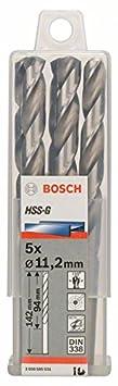 10 St/ück, /Ø 4,6 mm Bosch Professional Metallbohrer HSS-G geschliffen