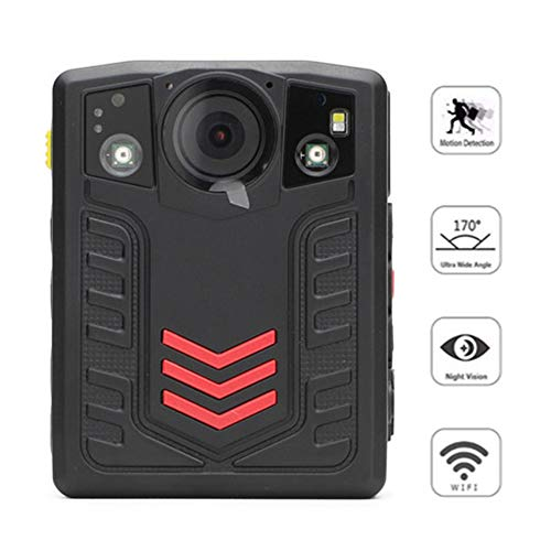 AKAKKSKY Compact Portable HD Body Camera 1296P 2.0 inch Full HD Display 170° Wide Angle Motion Detection Infrared Night Vision Function IP67 Waterproof