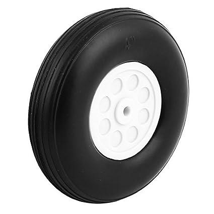 Amazon.com : eDealMax 5 mm de Agujeros Plano del rc de la PU de la cola de goma del neumático de la rueda tamaño métrico D102 H28 : Baby