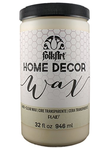 FolkArt Home Decor Chalk Furniture & Craft Paint in Assorted Colors (32-Ounce), 34883 Clear Wax