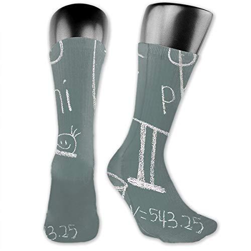 Yuotry Unisex Performance Cushion Crew Socks Tube Socks Math Formula New Middle High Socks Sport Gym Socks ()