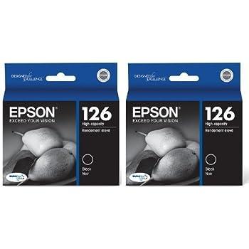 Genuine Epson 126 (T126120) DURABrite Ultra High Capacity Black Ink Cartridge 2-Pack