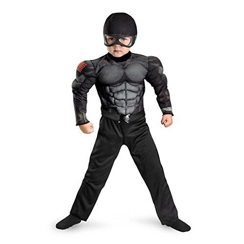 (G.i. Joe Retaliation Snake Eyes Toddler Muscle Costume, Black,)