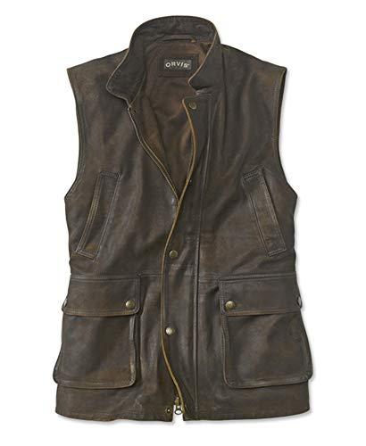 (Orvis Men's Munitions Leather Vest, Brown, Xx)
