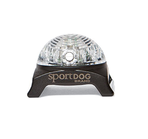 SportDOG Brand Locator Beacon - Bright, Waterproof Dog Collar Light with Carabiner - Flashing or Solid Safety Light can be used for Night Walking, Jogging, Camping, Hunting, or Hiking (Locator Dog Sport Beeper)