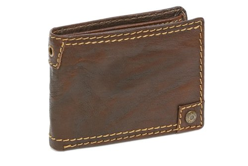 Portafoglio per Uomo e Donna formato horizontale LEAS, Vera Pelle da Buffalo, marrone - ''LEAS Pure-Nature-Collection''