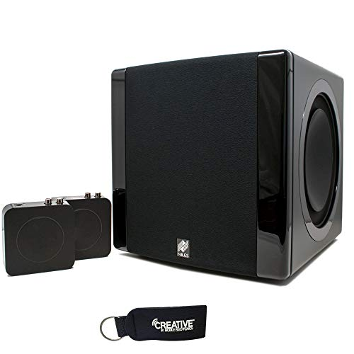 Niles SW8 Powered 1200 Watt Home Subwoofer with Wireless, High-Fidelity Audio Transmitter & Receiver Kit