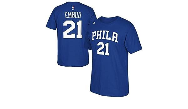 Philadelphia 76ers Joel embiid Nombre y número Camiseta, XL, Azul: Amazon.es: Deportes y aire libre
