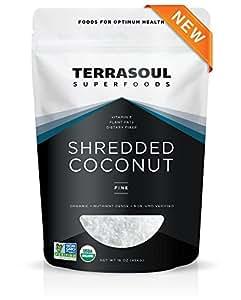 Terrasoul Superfoods Organic Shredded Coconut (Fine), 1 Pound