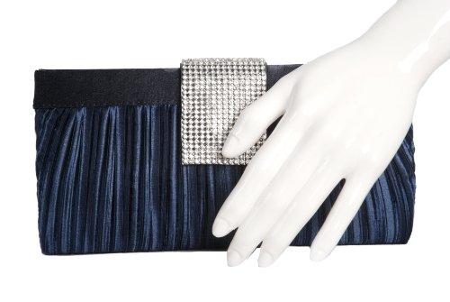 Vivid Handbags , Damen Clutch Blau Dunkelblau One Size