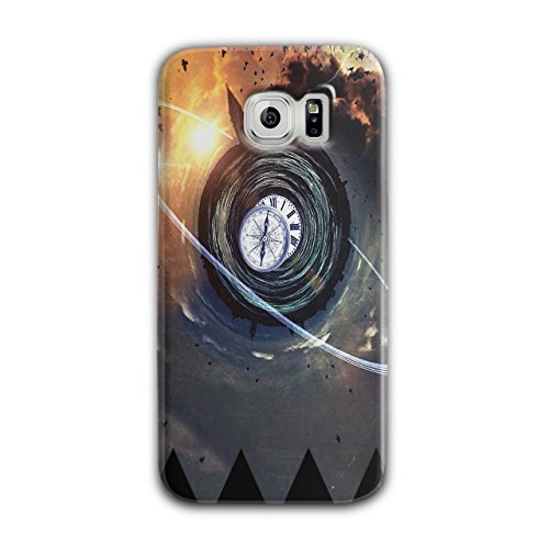 Time Mystic Space Fantasy Time Swirl Black 3D Samsung Galaxy S6 Case | Wellcoda