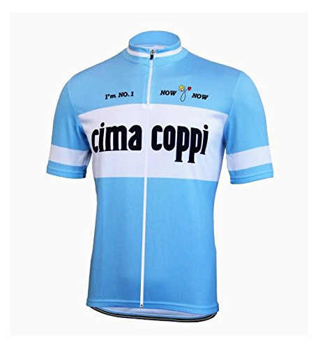 背が高いメイエラ土曜日NowGoNow サイクルジャージ レトロデザイン No9 ライトブルー イタリア メンズ クールマックス仕様 自転車 MTB サイクリング ロードバイク
