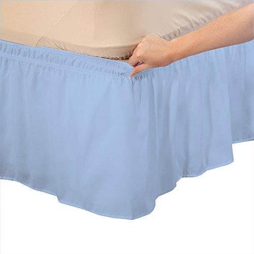 RoyalLinens UK Single Long 600TC 100% Egyptian Cotton Light Blue Solid...