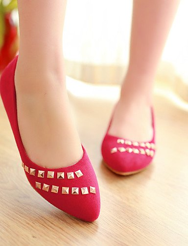 Rojo 5 us7 Eu38 Casual Azul Cn39 Negro Cn38 Semicuero Zq De Red 5 Tac¨®n Planos Eu39 us8 Uk6 Black Zapatos Puntiagudos Plano Yyz Mujer Uk5 1qHgwp7