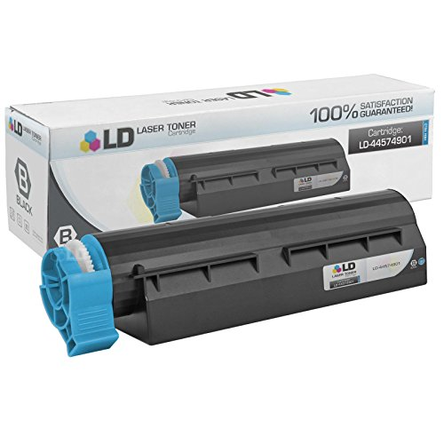 LD © Compatible Replacement for Okidata 44574901 High Yield Black Laser Toner Cartridge for use in Okidata MB461 MFP, MB471, MB471W, OKI B431d, and B431dn Printers
