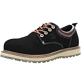 CAMEL CROWN Men's Uniform Work Boots Lightweight Work Shoes Casual Off-Road Cowboy