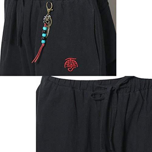 Rosso Harem Wide Traspirante Teens Lino Uomo Men Aladdin Classiche Casual Pants Hippie Baggy Boho Pantaloni Leg Da Retro Ragazzi Thai 0Aw4qPH