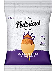 Nutorious Protein Almonds Caramel Choc & Sea Salt, 80 g, Caramel Choc & Sea Salt