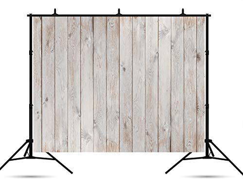 7x5ft Fabric Wood Wall Photography Backdrops Vintage Wooden Grain Photo Booth Prop Backdrop for Party Birthday Prom Wedding Theme Event Shooting for Picture Background]()